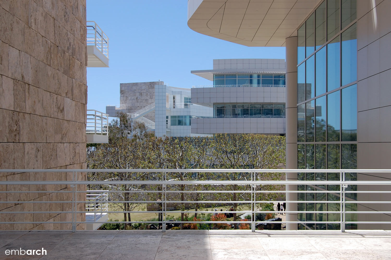 Getty Center - exterior view between buildings