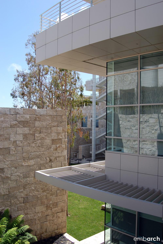 Getty Center - exterior detail