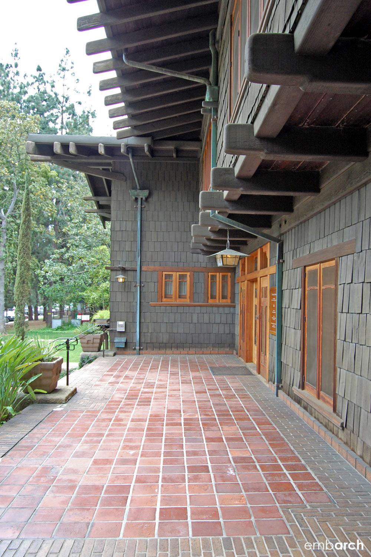 Gamble House - exterior at entry porch