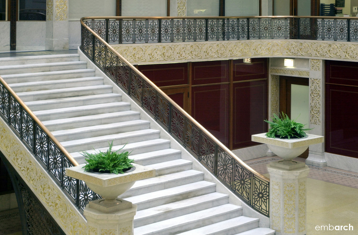 Rookery Building - interior lobby stair detail