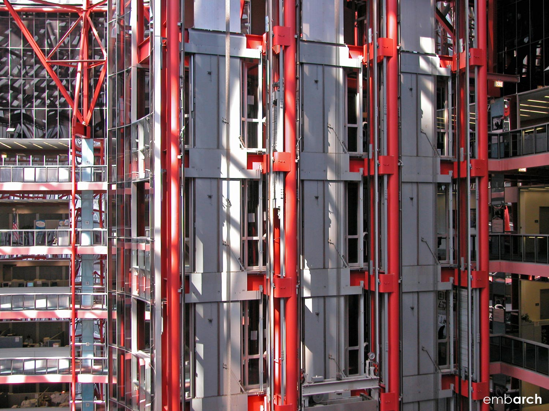 James R. Thompson Center - interior elevators detai