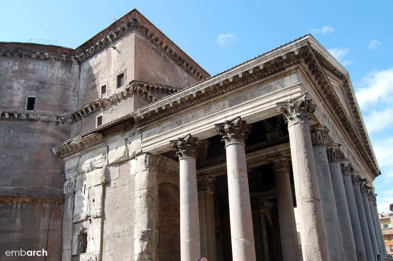 Pantheon - exterior portico