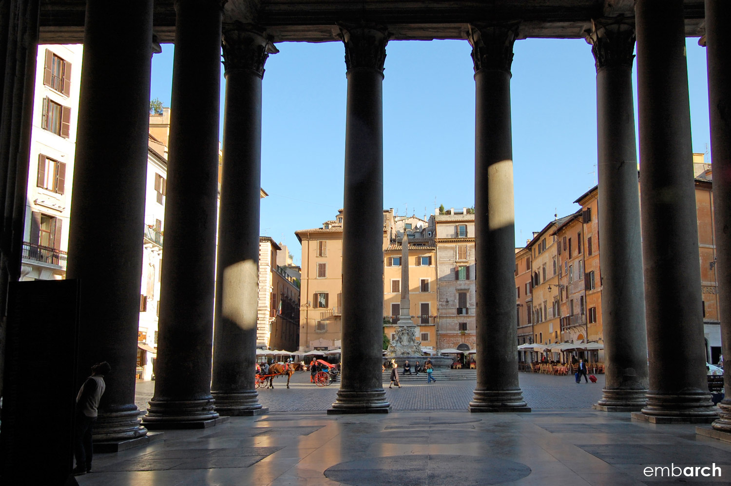 Pantheon - view from portico