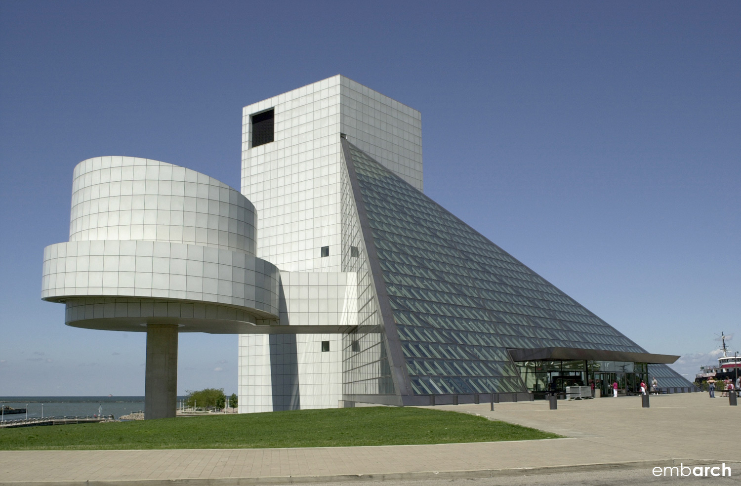 Rock and Roll Hall of Fame - exterior view