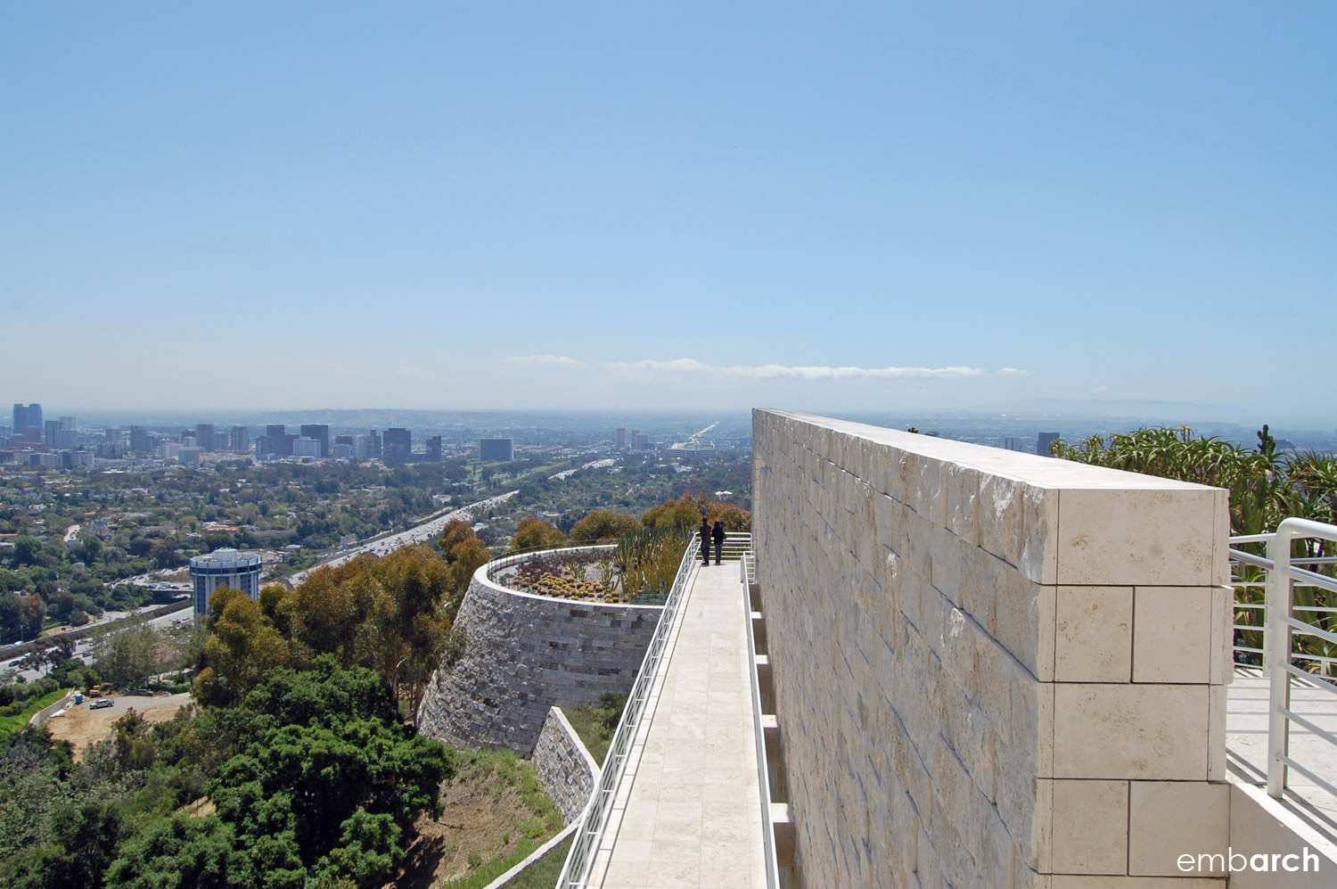 A view of Los Angeles from the Getty Center.