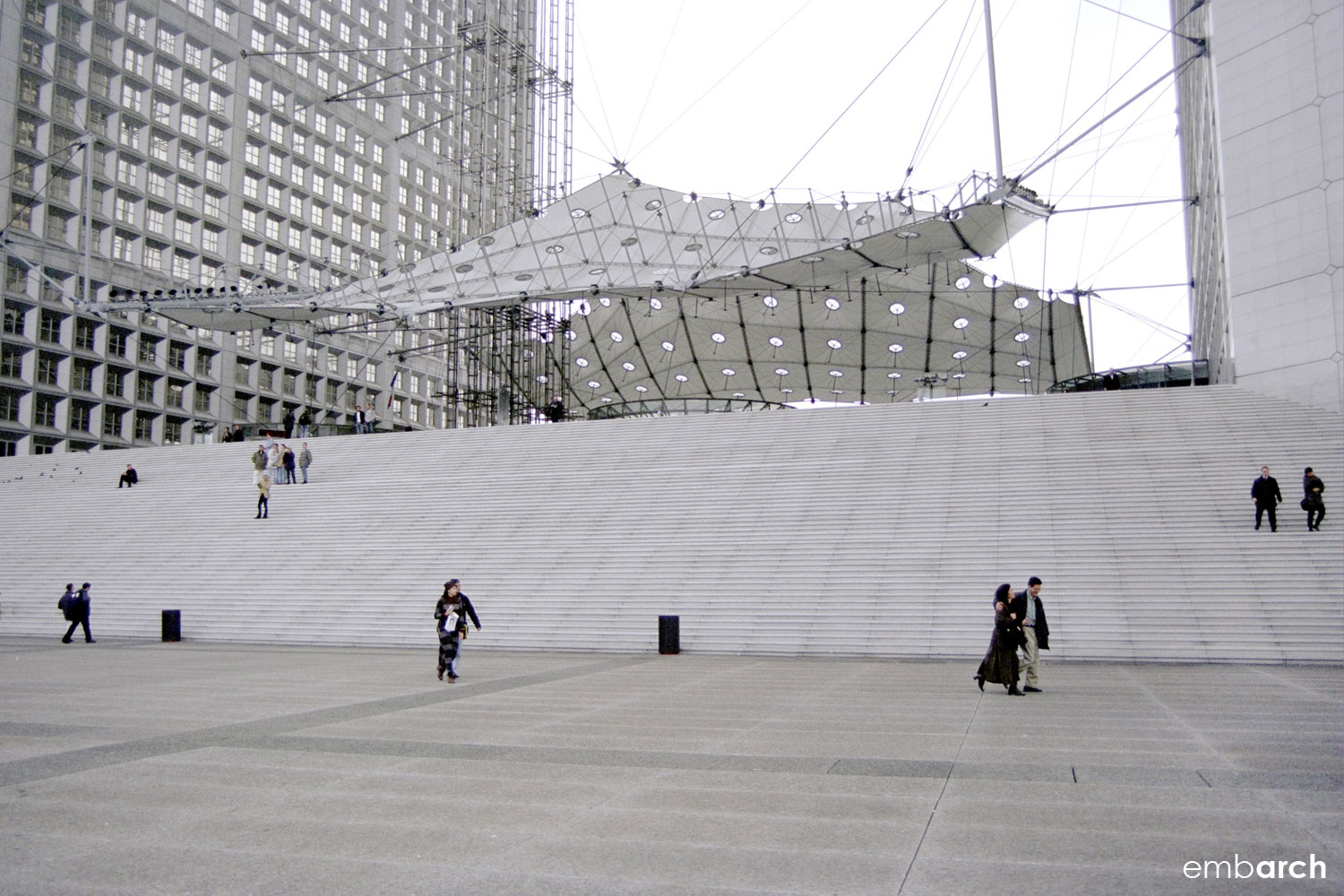 La Grande Arche de la Défense - view of the Grande Arche plinth base.