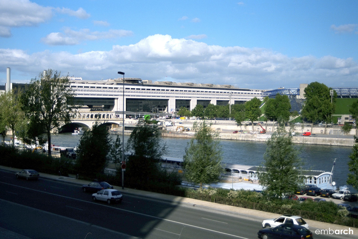 Ministry of Finance - view of exterior from across the River Seine.