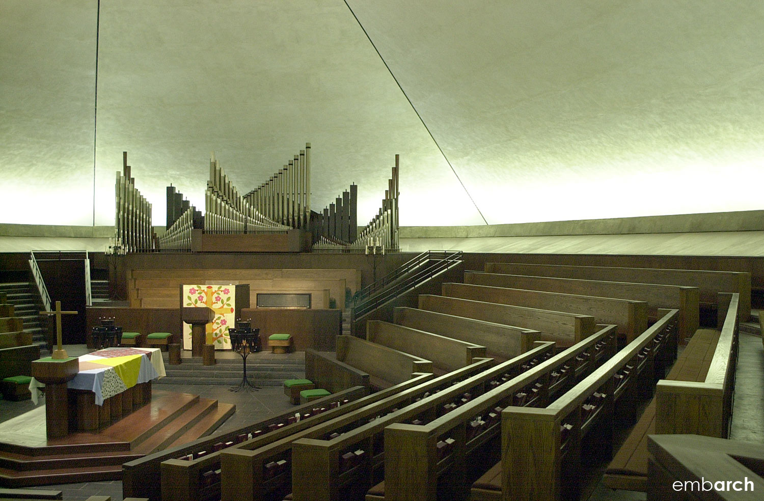 North Christian Church - view of interior
