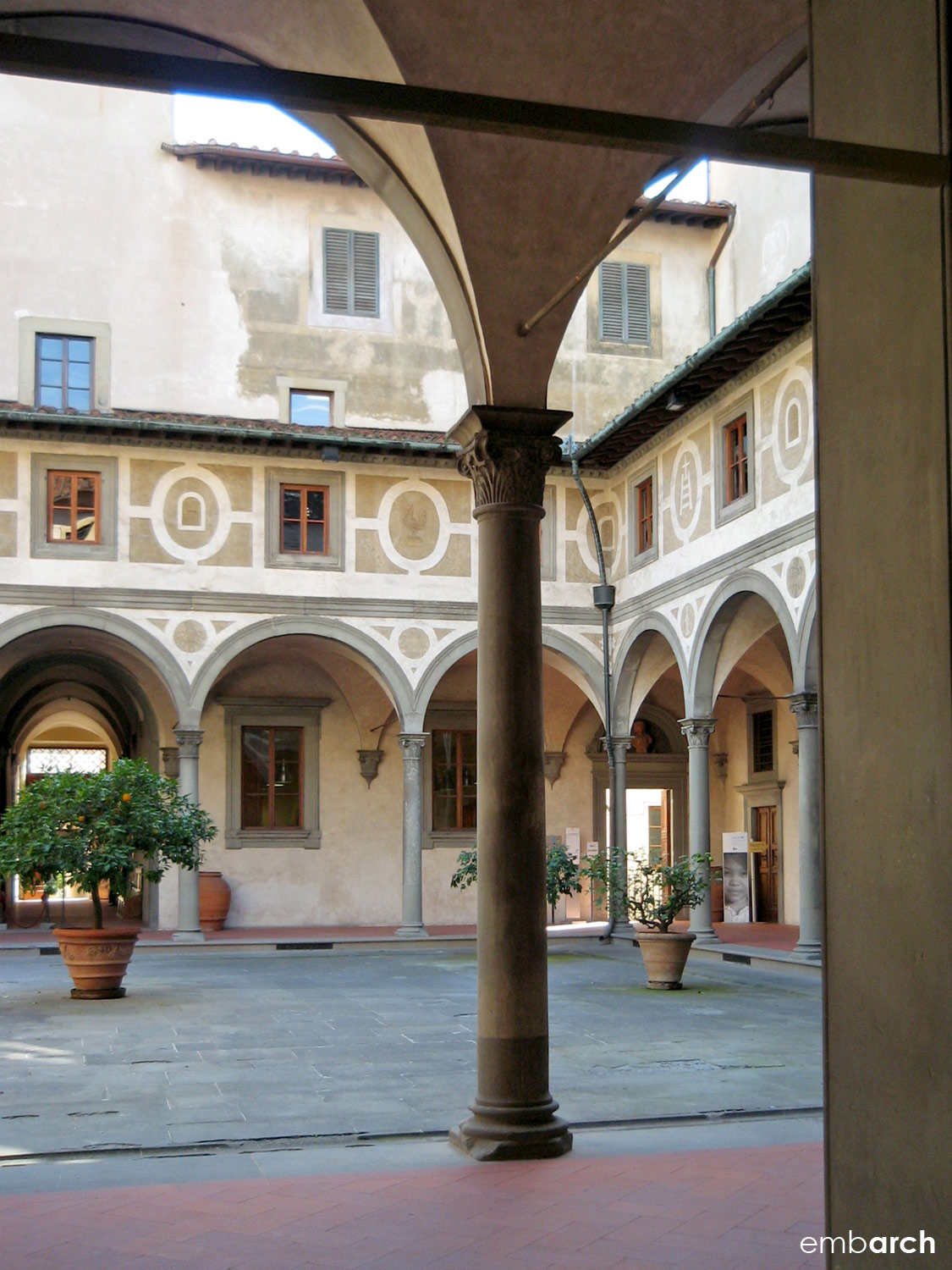 Hospital of the Innocents - view of courtyard