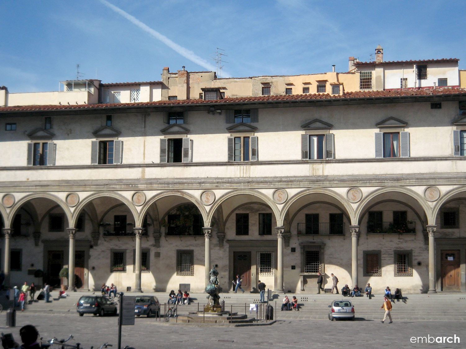 Hospital of the Innocents - exterior view from piazza.