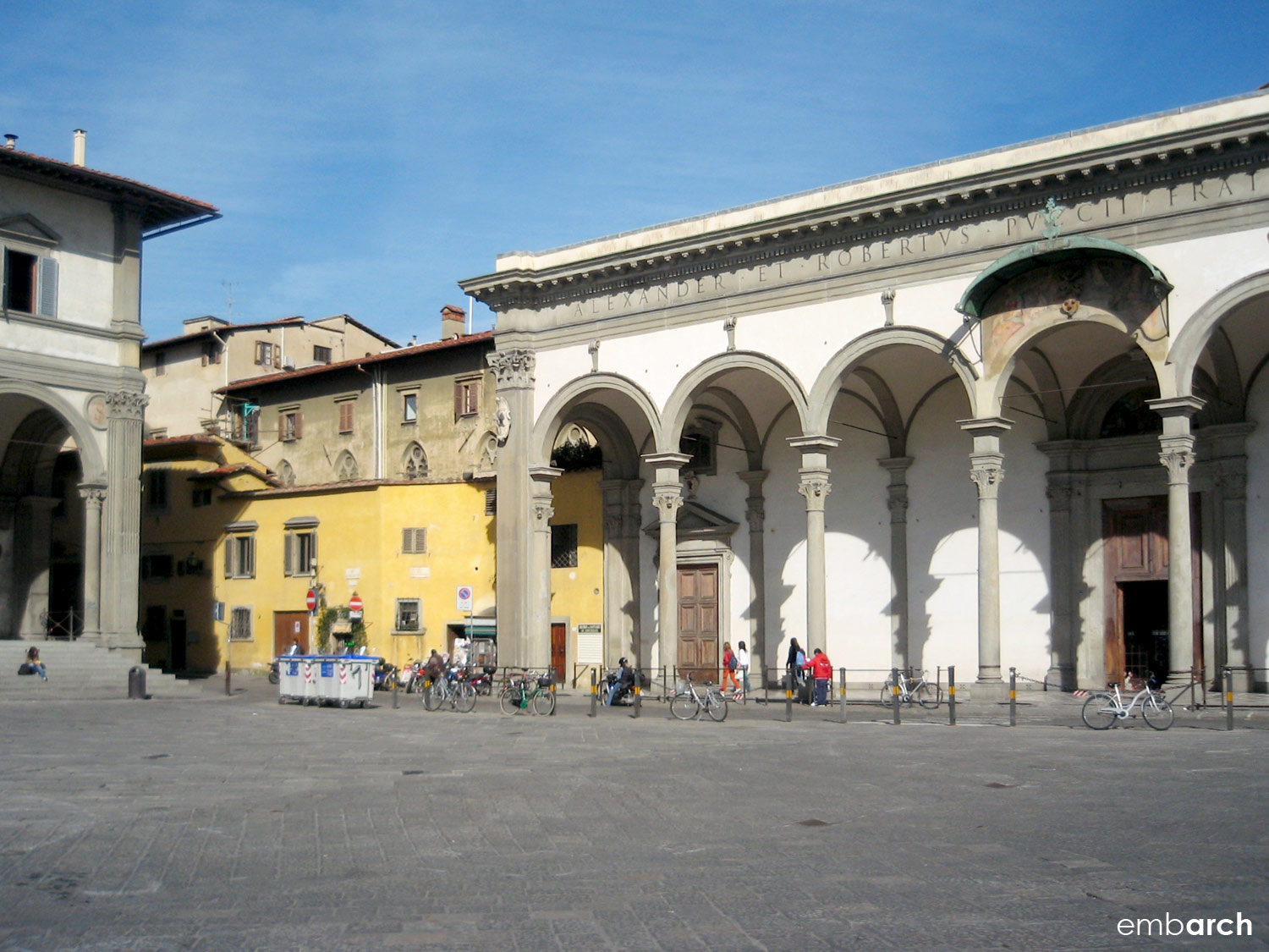 Hospital of the Innocents - view from piazza.