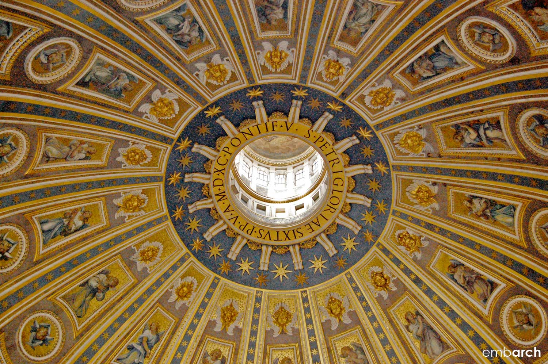 St. Peter's Basilica - dome oculus