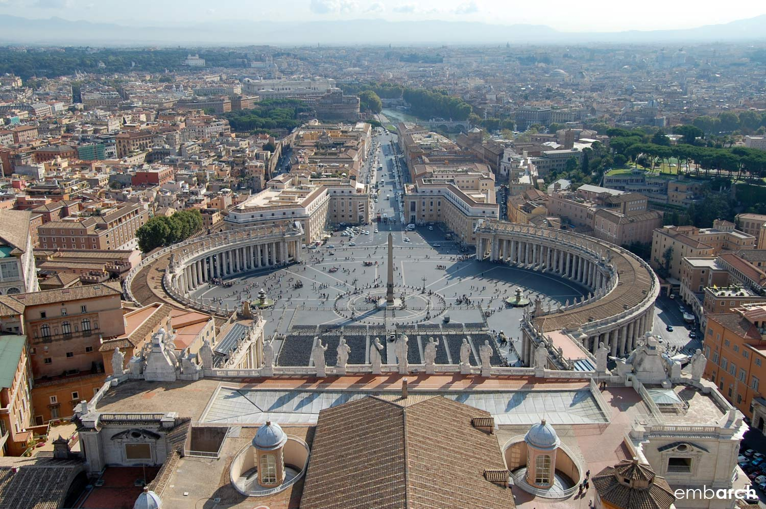 St. Peter's Basilica - view of Rome from basilica dome.