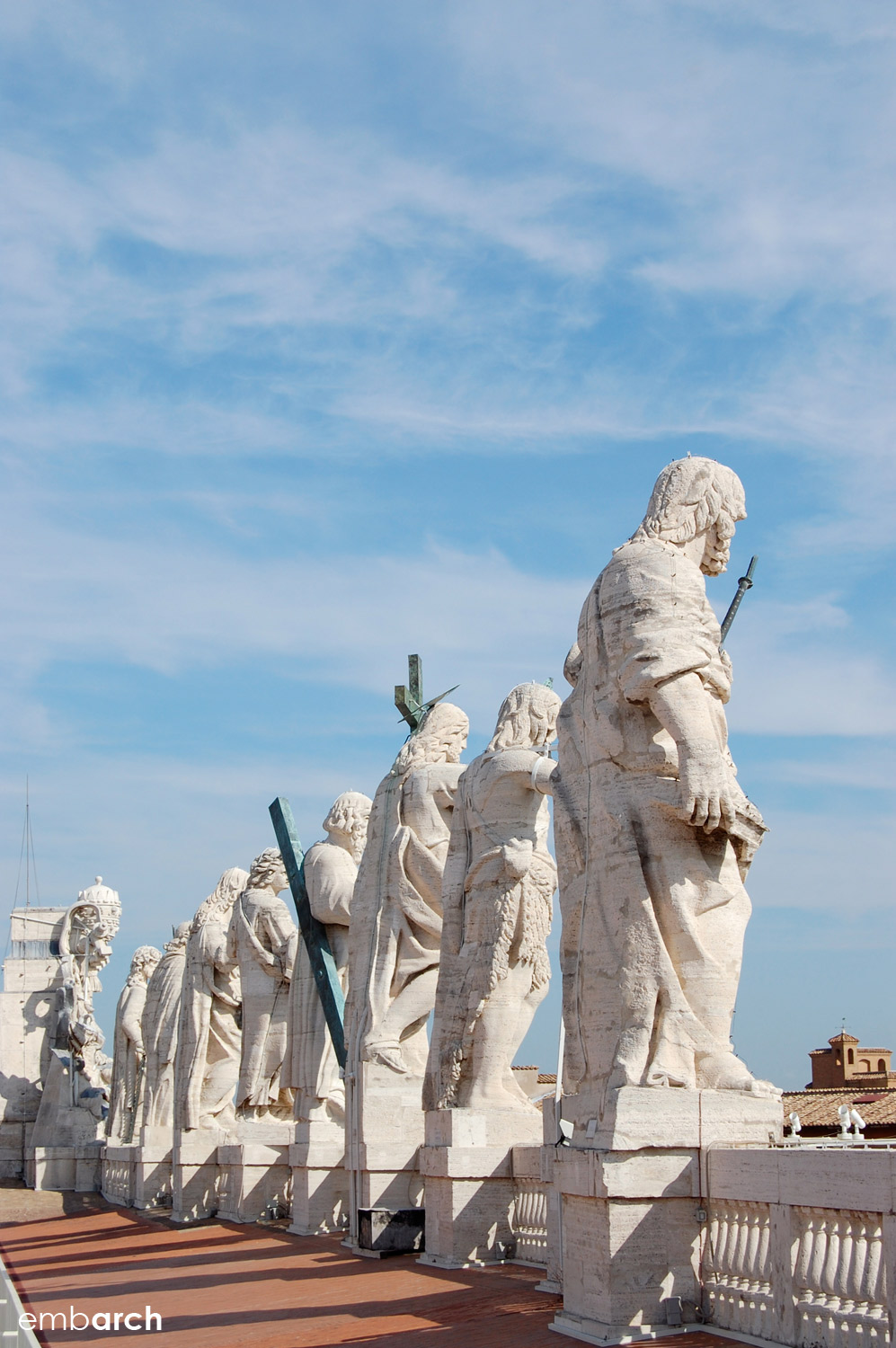 St. Peter's Basilica - statuary on roof