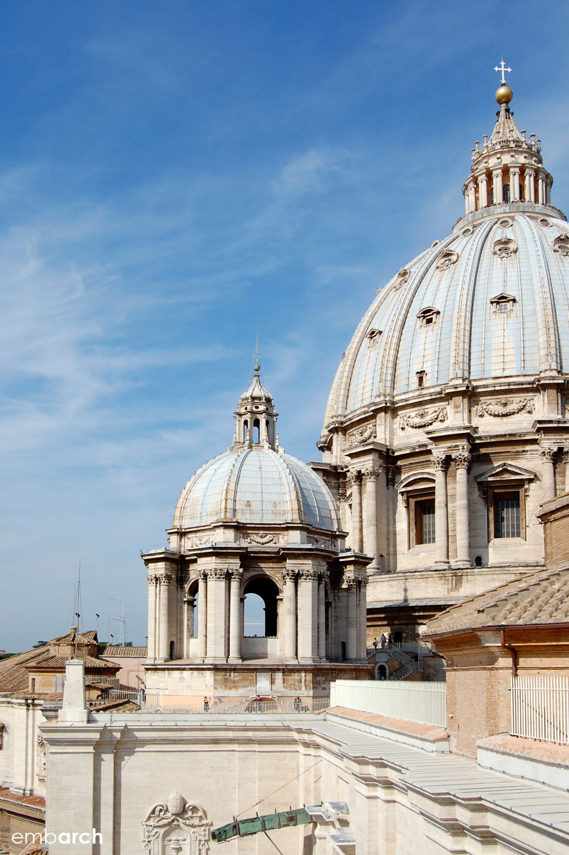 St. Peter's Basilica - exterior domes