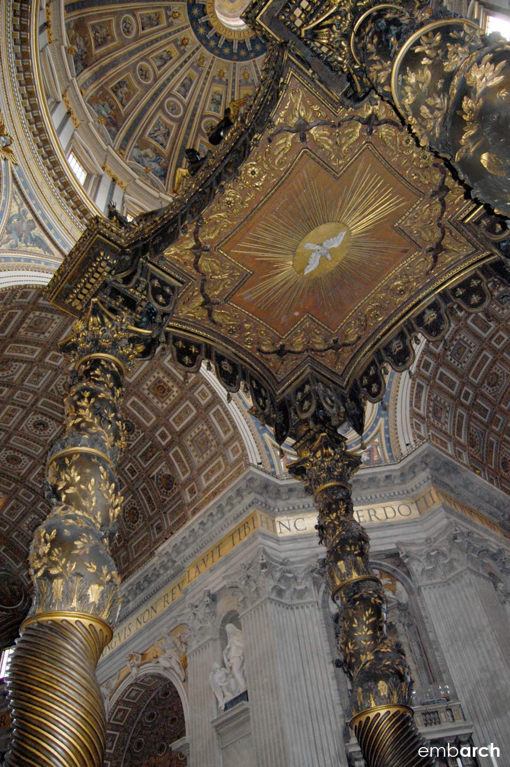 St. Peter's Basilica - altar canopy detail