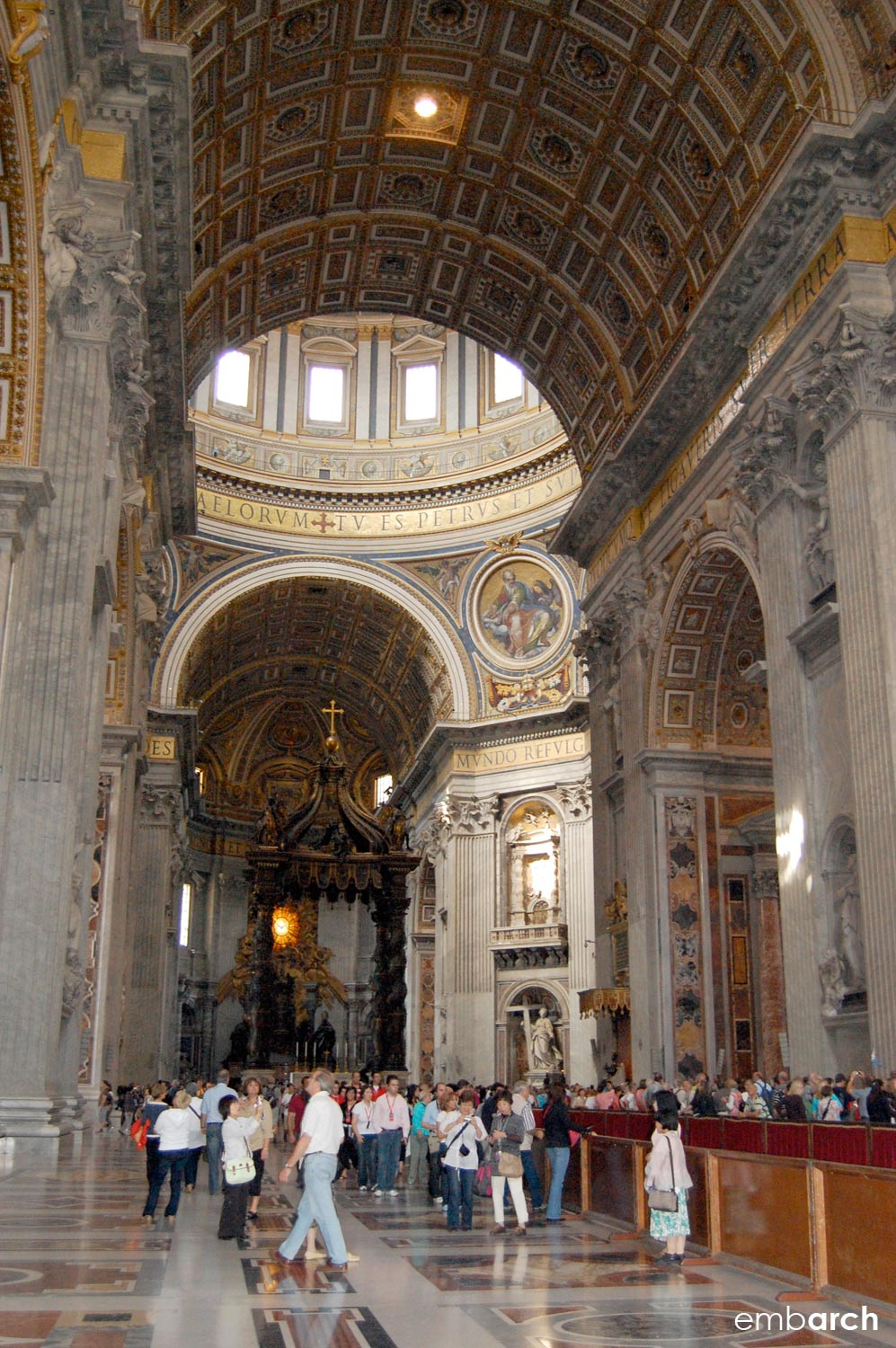 St. Peter's Basilica - interior view of nave and transept.
