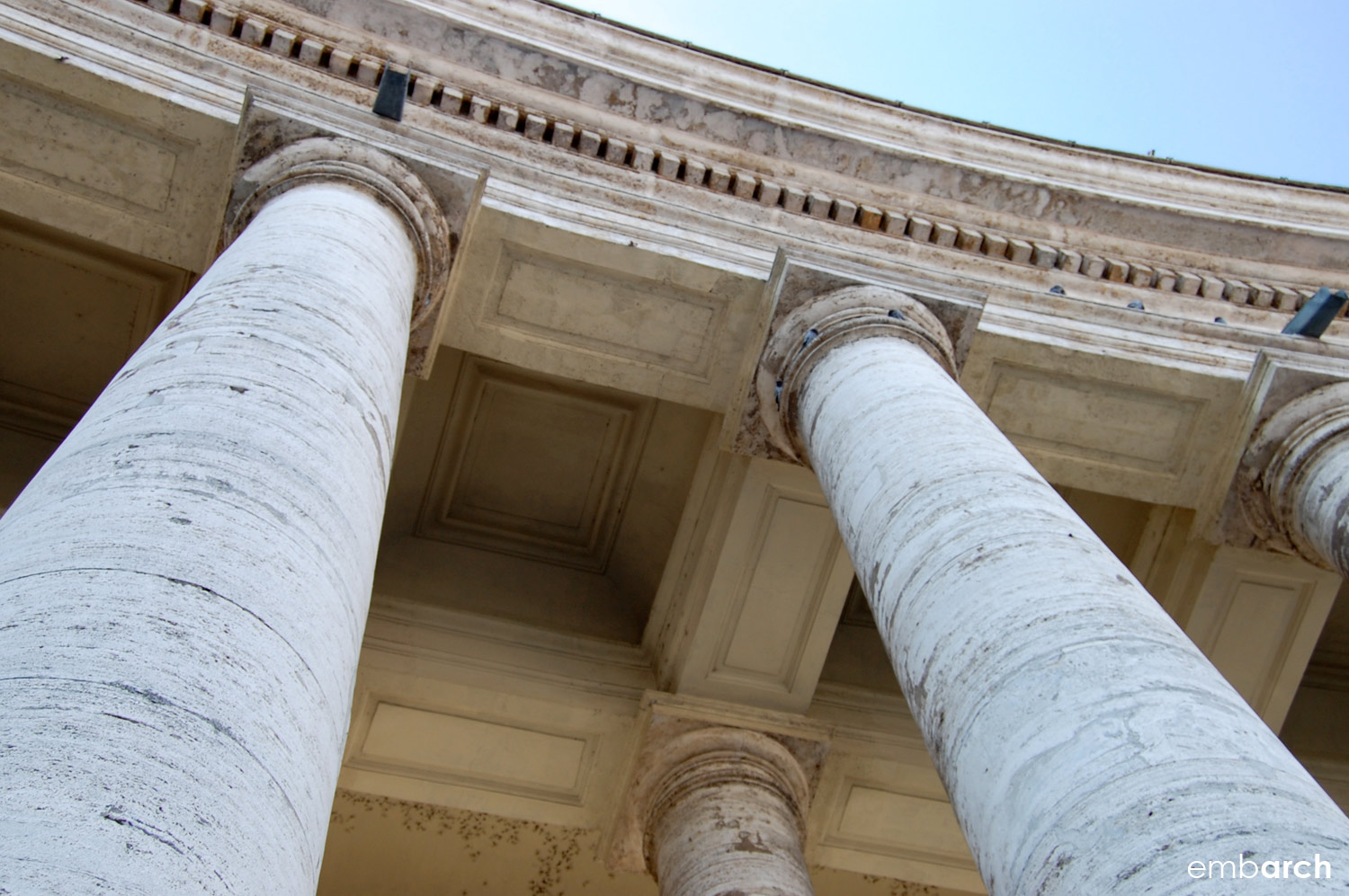 St. Peter's Basilica - exterior detail at portico.