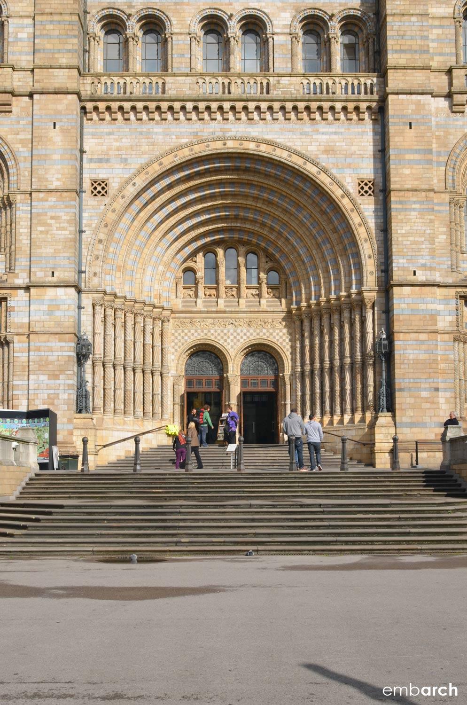 Natural History Museum, London - exterior main facade detail