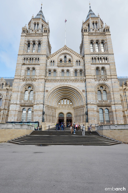 Natural History Museum, London - exterior main facade