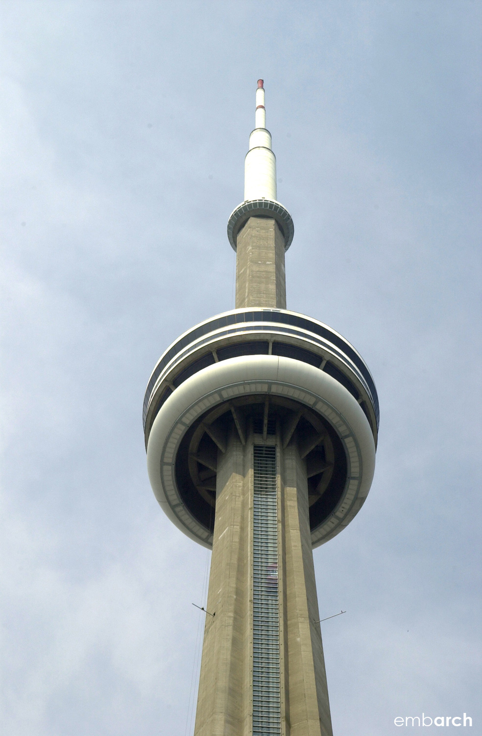 CN Tower - view of the exterior at the top