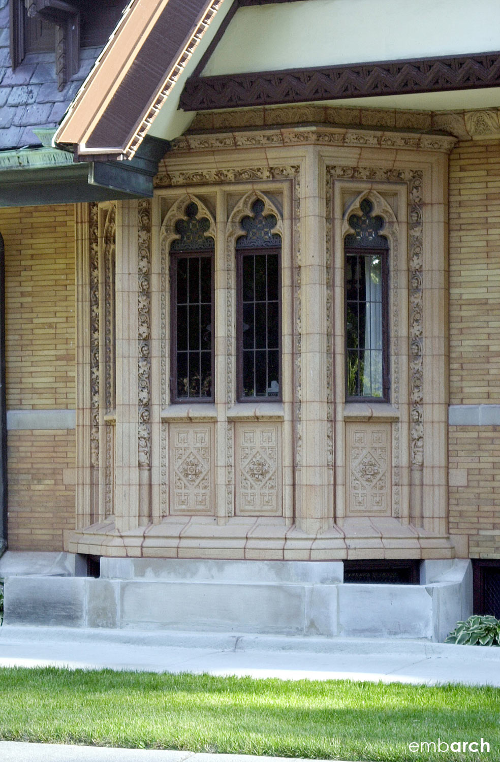 Nathan G. Moore House - exterior detail
