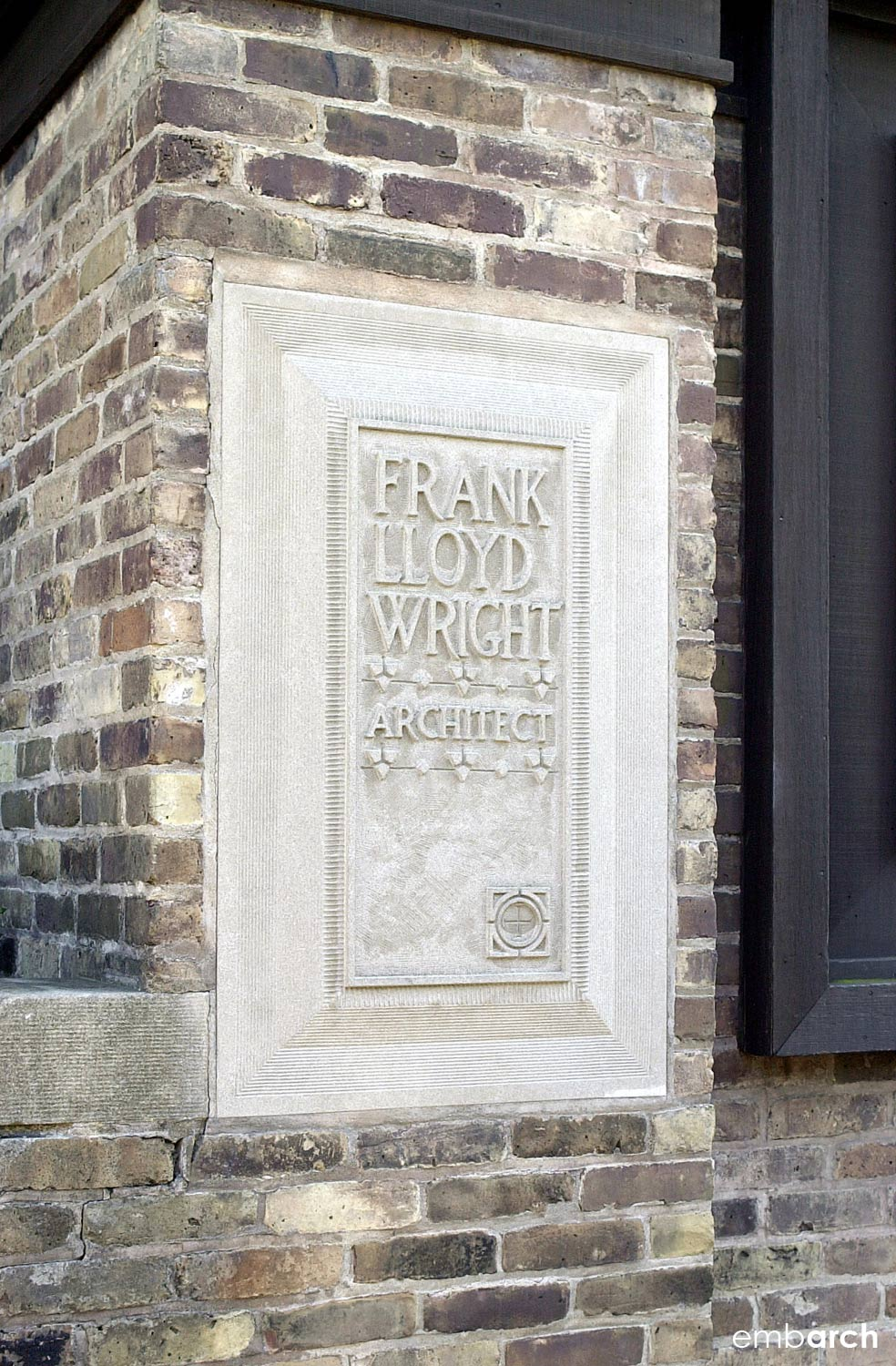 Frank Lloyd Wright Home and Studio - entry plaque