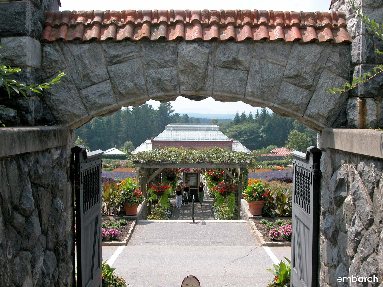 Biltmore Estate - gate to gardens