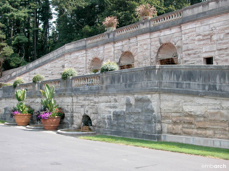 Biltmore Estate - retaining wall