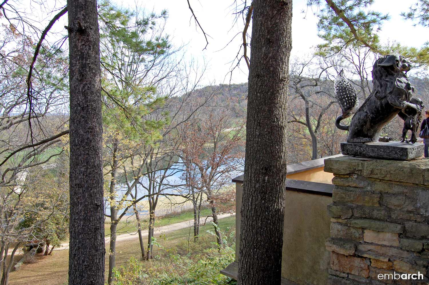 Taliesin East - view from porch