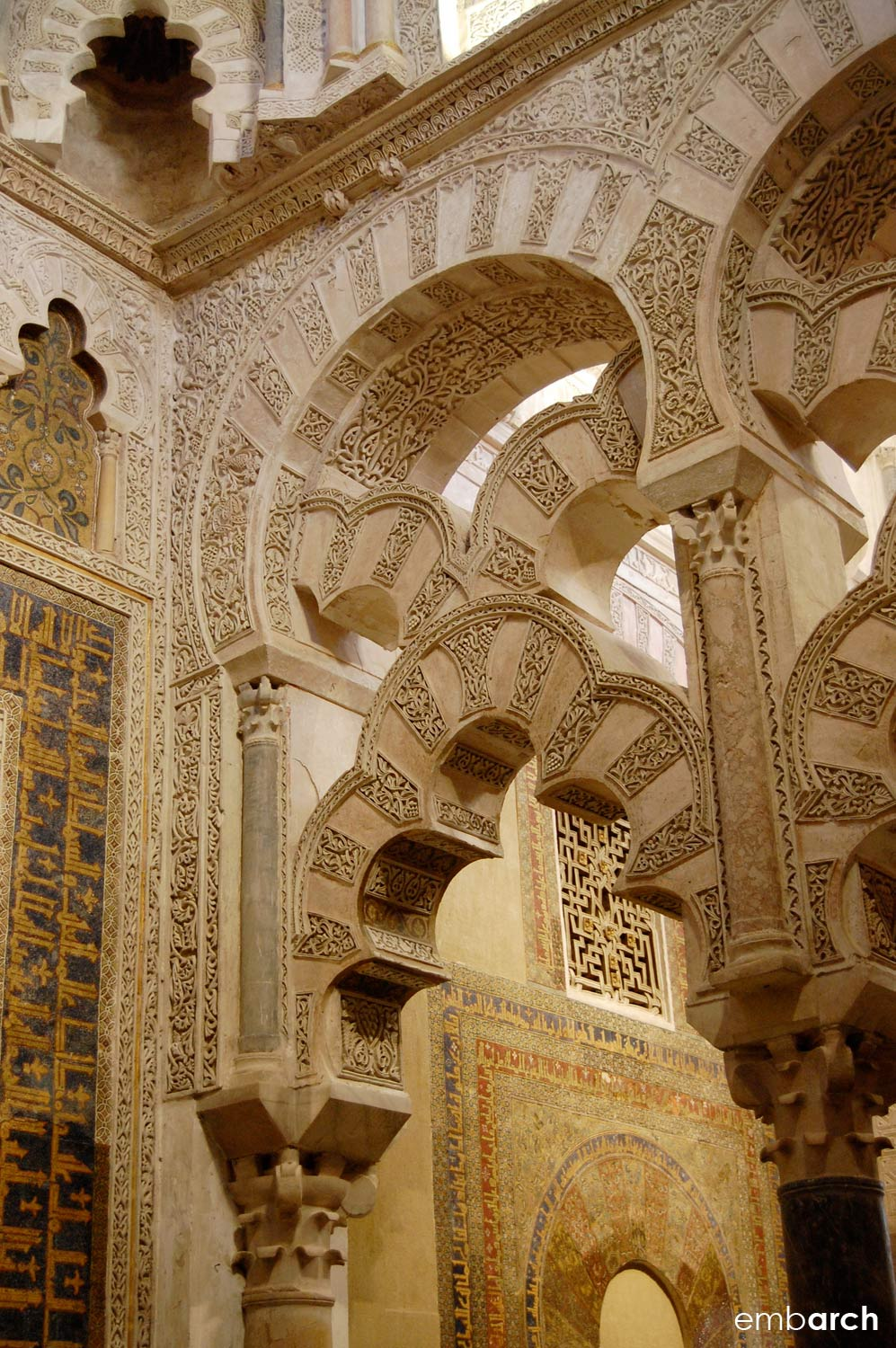 The Mosque-Cathedral of Cordoba - interior detail
