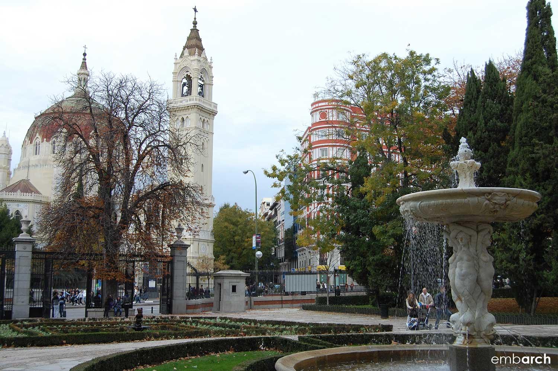View of the Buen Retiro Park in Madrid.
