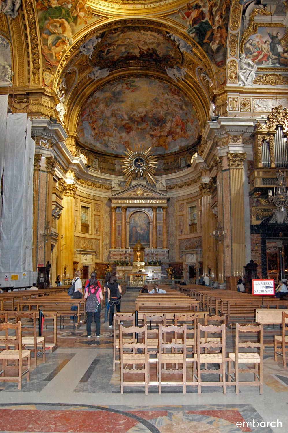 Church of the Gesù - view of interior