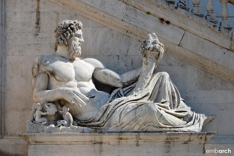 Capitoline Hill - pediment statuary