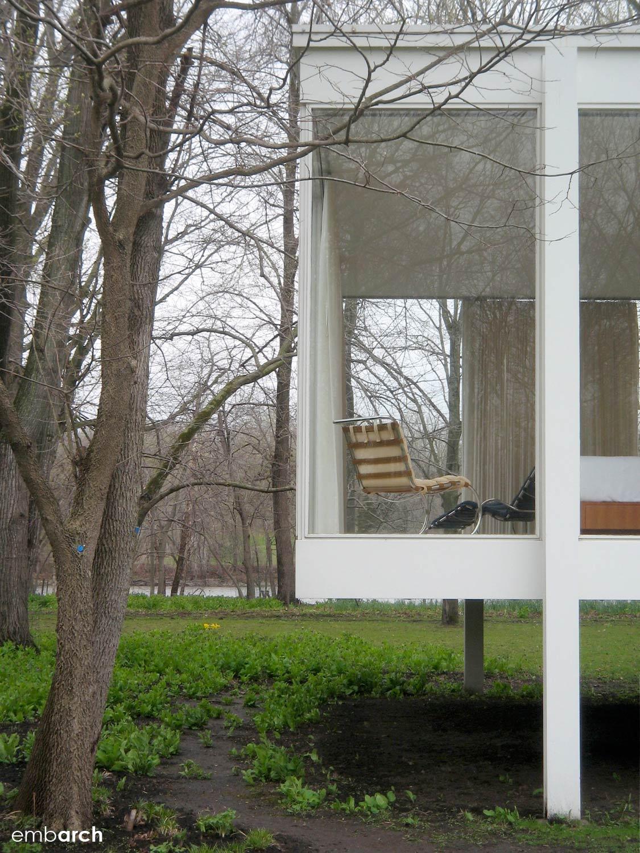 Farnsworth House - exterior detail