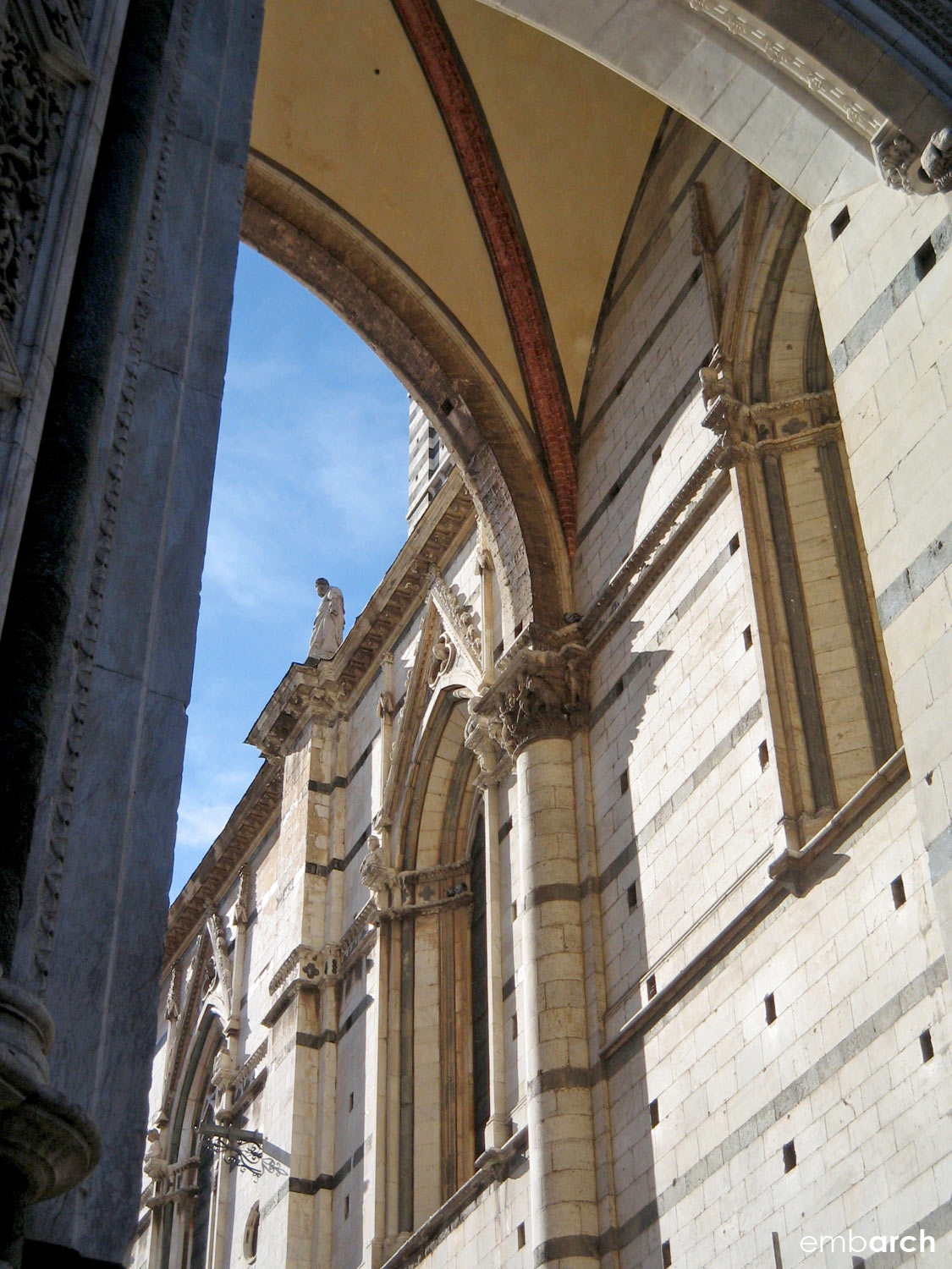Siena Cathedral - exterior detail