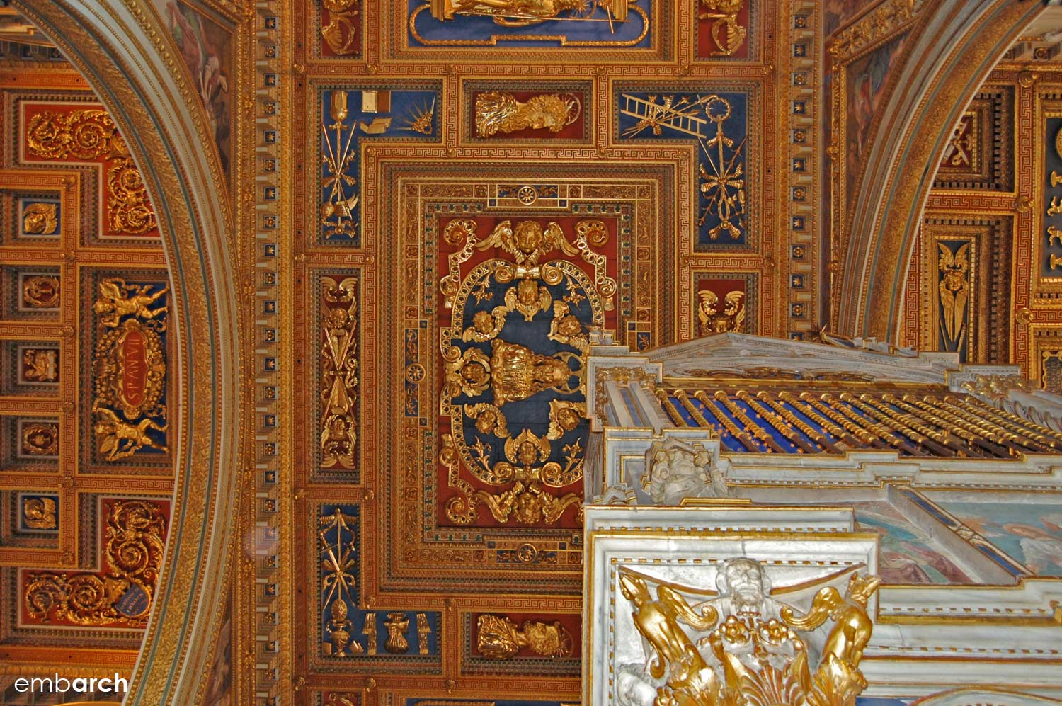 Papal Archasilica of St. John Lateran - interior ceiling detail