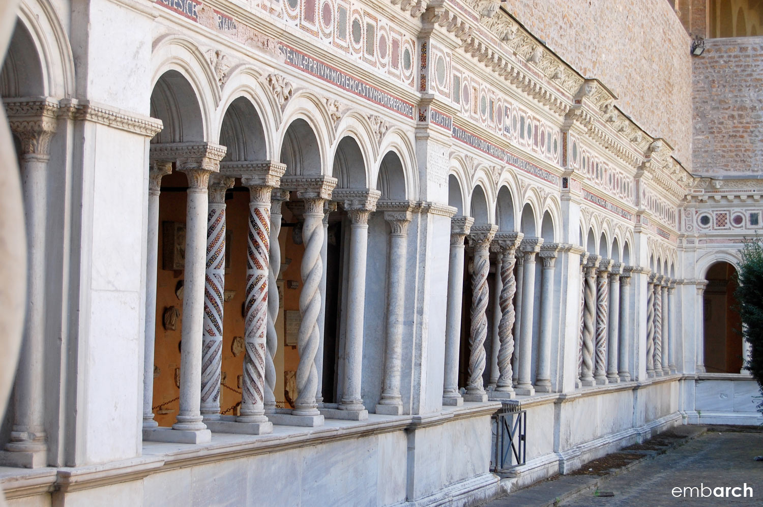 Papal Archasilica of St. John Lateran - cloister detail