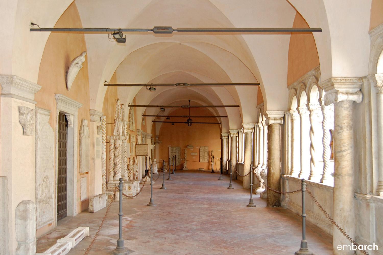 Papal Archasilica of St. John Lateran - exterior cloister walkway