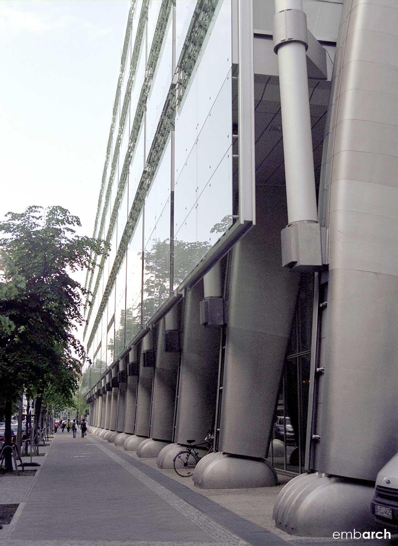 Berlin Stock Exchange - view of street facade