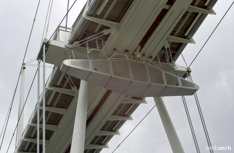 Royal Dock Bridge - exterior detail