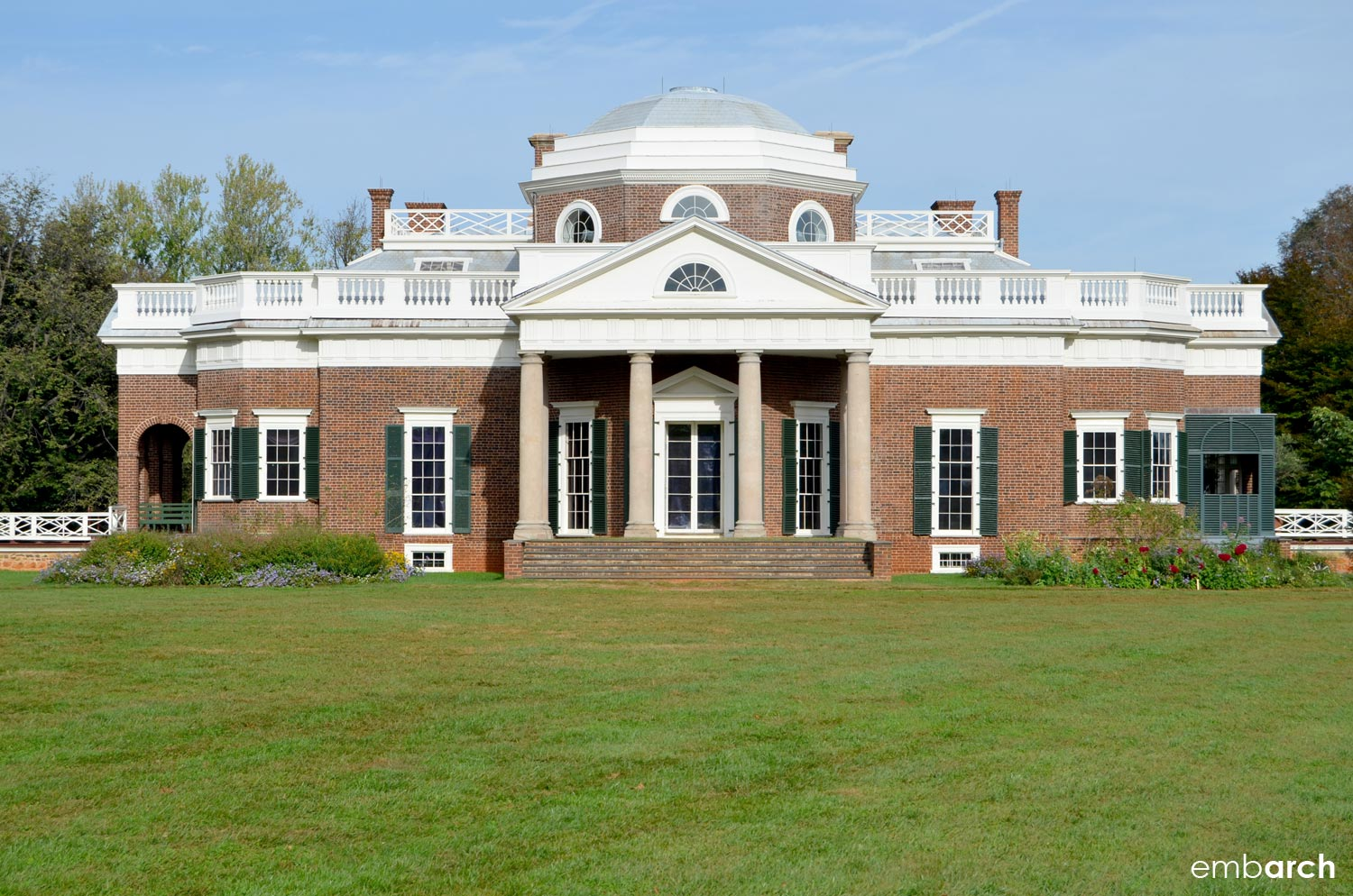 Front elevation of Monticello