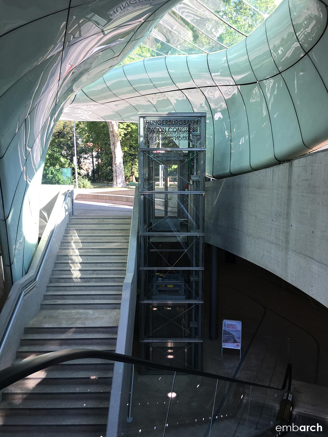 Congress Station - interior, looking down from street level