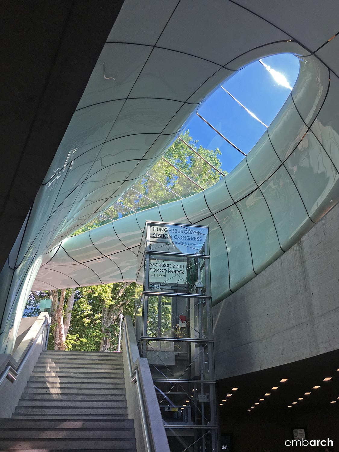 Congress Station - interior, looking up from lower level