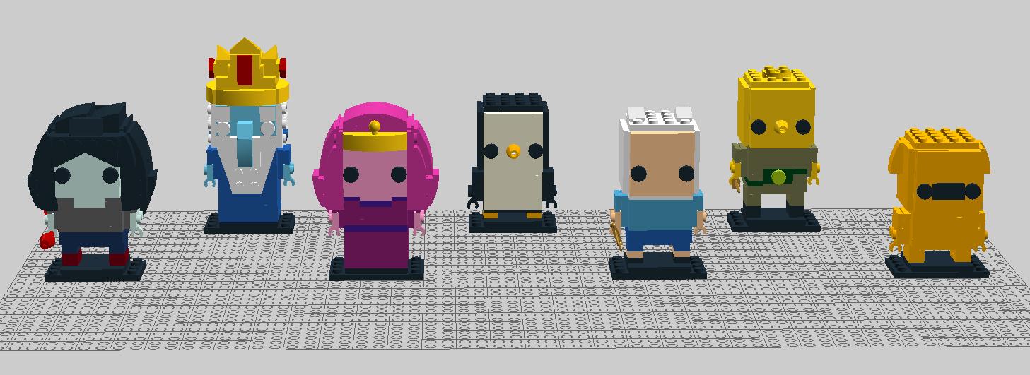 Marceline, Princess Bubblegum, Finn, & Jake
