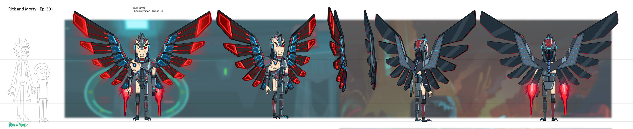 Phoenix Person (Wings - Open)