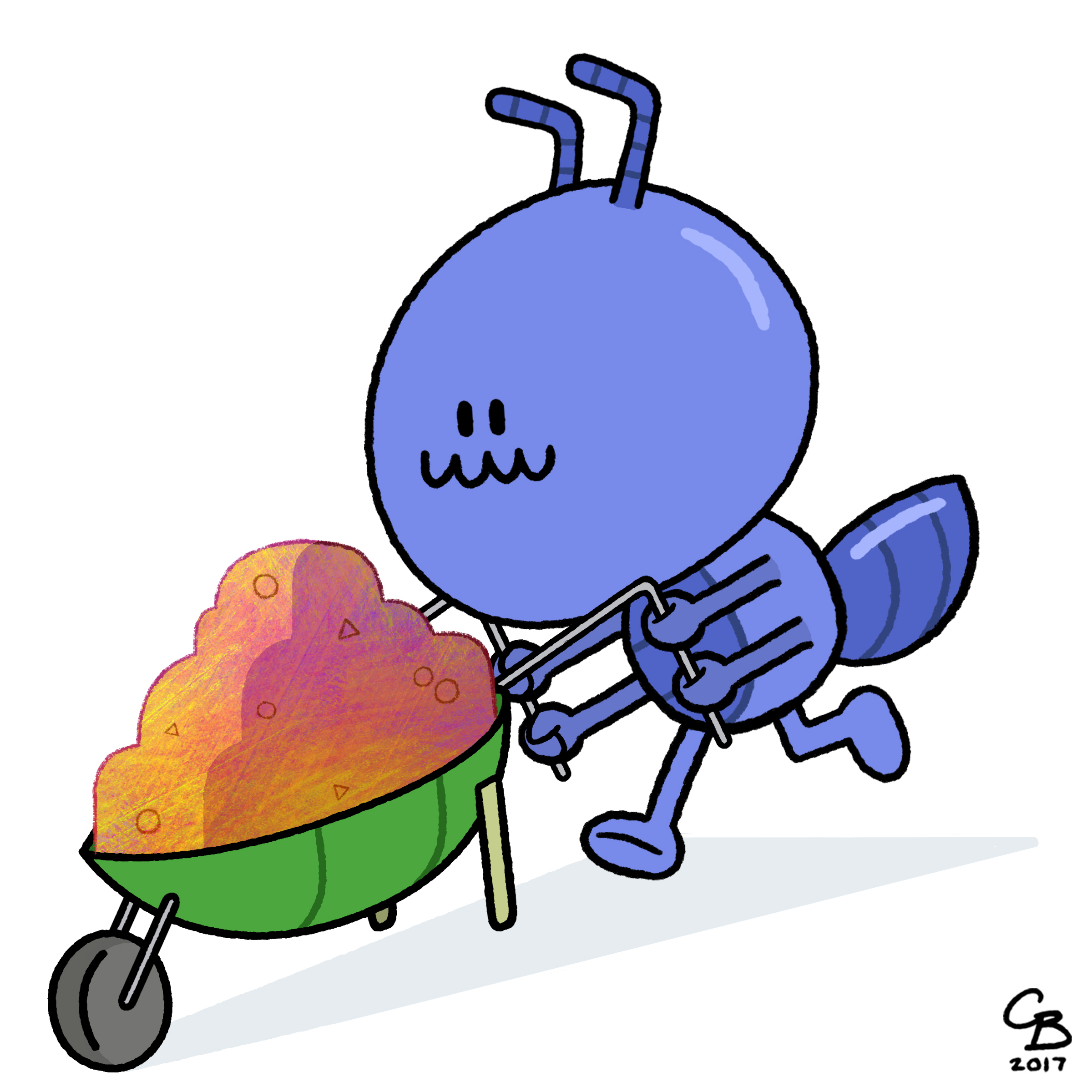 Ant with a Wheelbarrow