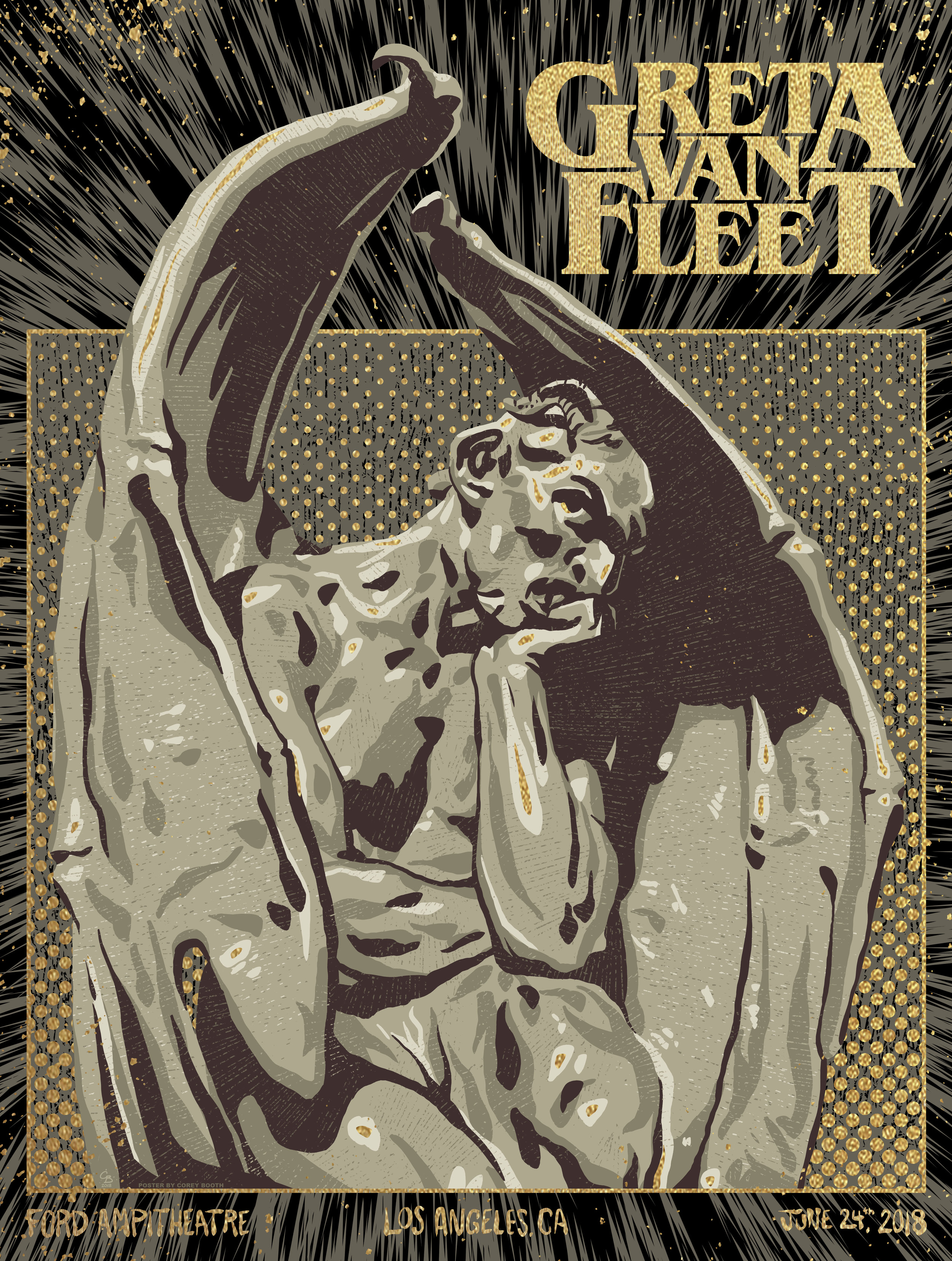 Greta Van Fleet - Stone & Gold Variant