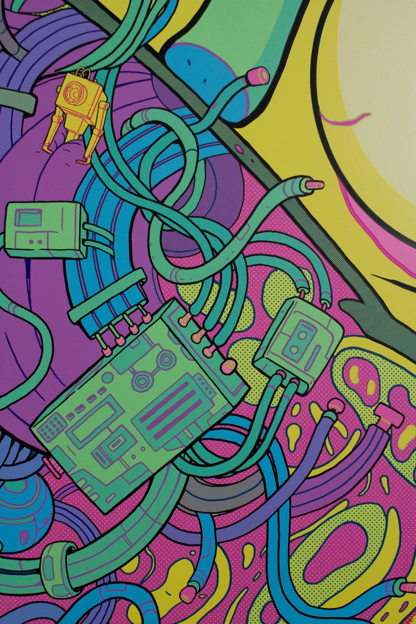 Rick and Morty: Season 1 - Neon Variant (Detail Shot)