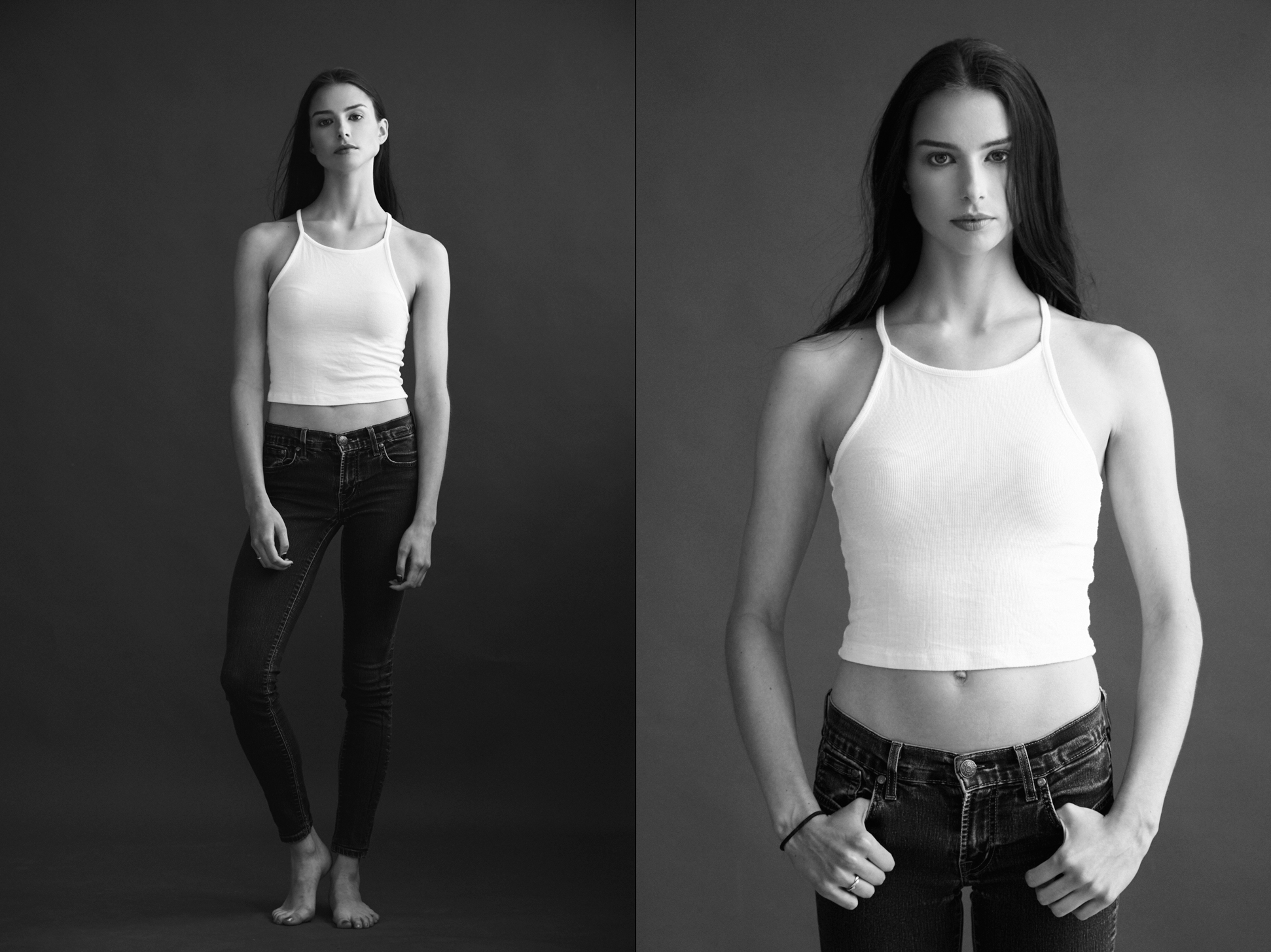 Michael Populus Photography photographs Colette Duplantier of Kennedy Models